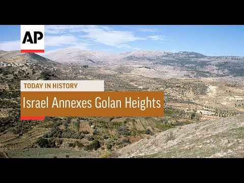Israel Annexes Golan Heights - 1981 | Today In History | 14 Dec 17