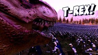 500 Тираннозавров против 40 000 воинов! - Ultimate Epic Battle Simulator (UEBS)