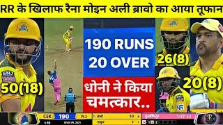 Highlights: CSK vs RR 12th IPL Match HIGHLIGHTS   Chennai vs Rajasthan Highlight, CSK vs RR IPL 2021