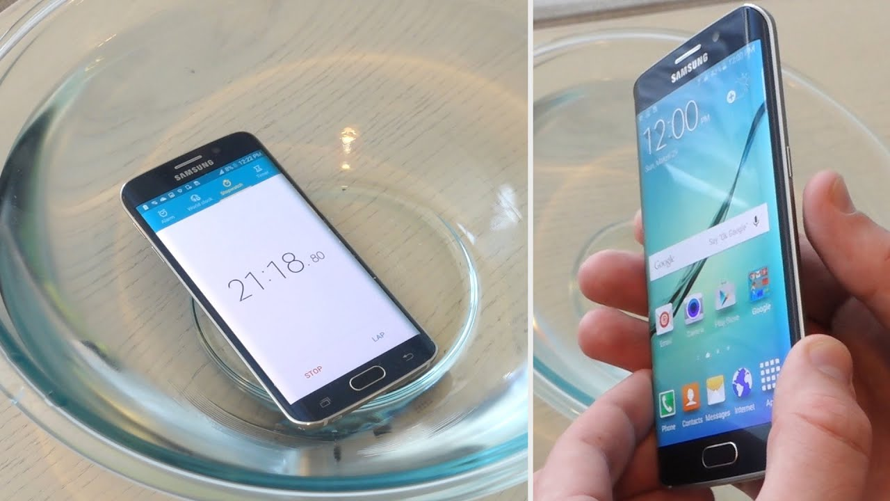 Samsung Galaxy S6 Edge Water Test - Secretly Waterproof/Resistant?