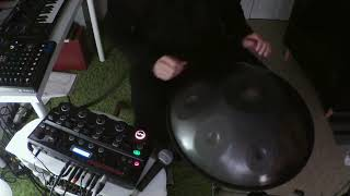 Handpan , native american flute and boss rc-505