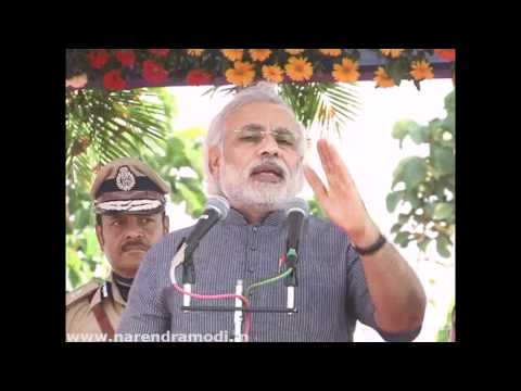 Narendra Modi speaking as passing out parade of newly trained police personnel & officers