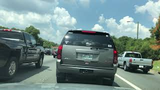 Car Ride in Charlotte, North Carolina Morning Traffic