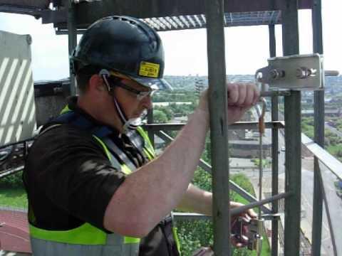 Cabloc Vertical Ladder Fall Arrest System Youtube