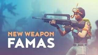 NEW LEGENDARY WEAPON FAMAS - BETTER THAN SCAR? (Fortnite Battle Royale)