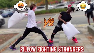 Pillow Fighting Strangers in Public 🤕 Atlanta Mall Edition (i think part 5)