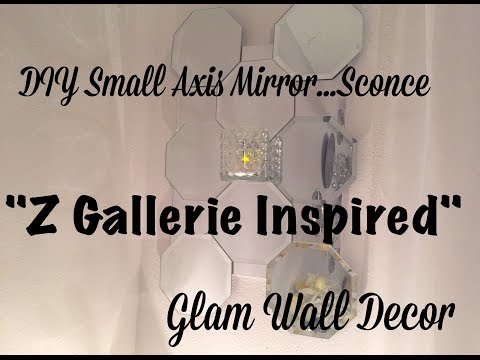 "Diy Smaller Scale Axis Mirror(with a twist)-Z Gallerie Inspired ""100% All Dollar Tree Iteams"""