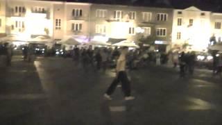Białystok, fun na rynku na zakończenie wakacji 2013