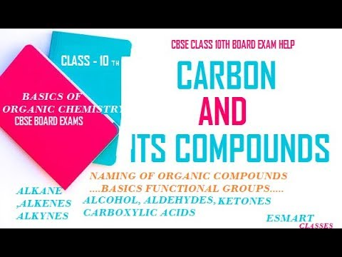 NAMING OF CARBON AND COMPOUNDS // BASIC ORGANIC  CHEMISTRY // eSmart Classes by Amy Sharma