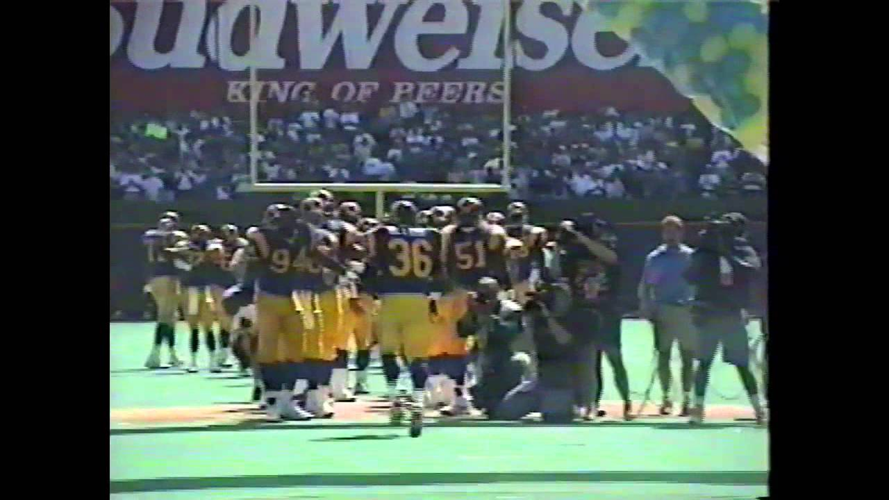 St Louis Rams First Game In 1995 Sights And Sounds With