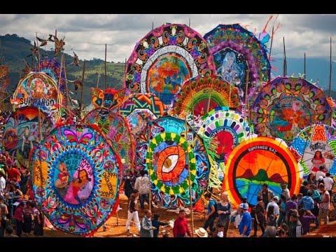 Giant Kite Festival Sumpango Guatemala Youtube