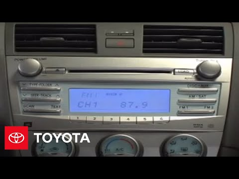 2007 - 2009 Camry How-To: CD Function - JBL 6-disc CD Changer | Toyota