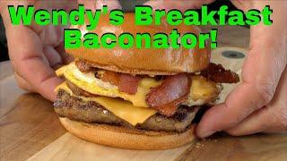 Wendy's Breakfast Baconator Recipe! | Blackstone Griddle | Burger or Sandwich?
