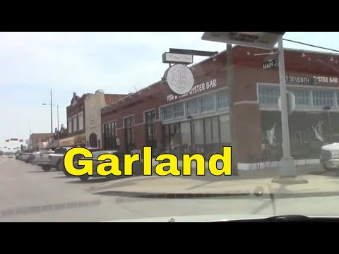Garland TX Downtown Old Historic Big City Town Texas USA -- Channel Jamesss Today