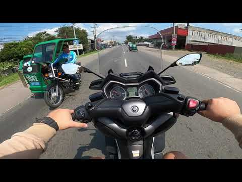 Test ride on Xmax 300 and topspeed we can get.