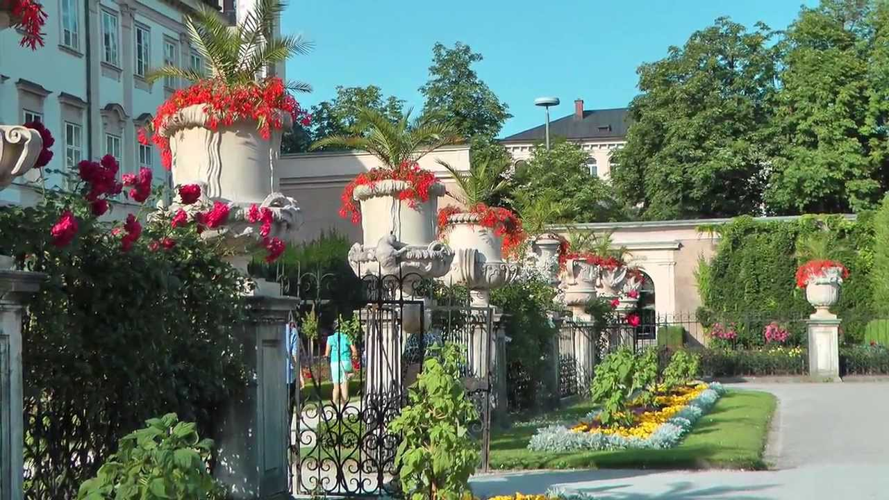 sterreich salzburg mirabell garten austria salzburg mirabell garden hd 1080p youtube. Black Bedroom Furniture Sets. Home Design Ideas