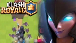 皇室戰爭 (Clash Royale): 暗黑女巫 night witch!以及xbow 和镖高布林的 bug!