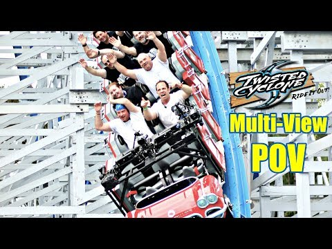 Twisted Cyclone Front Seat Multi View On Ride POV