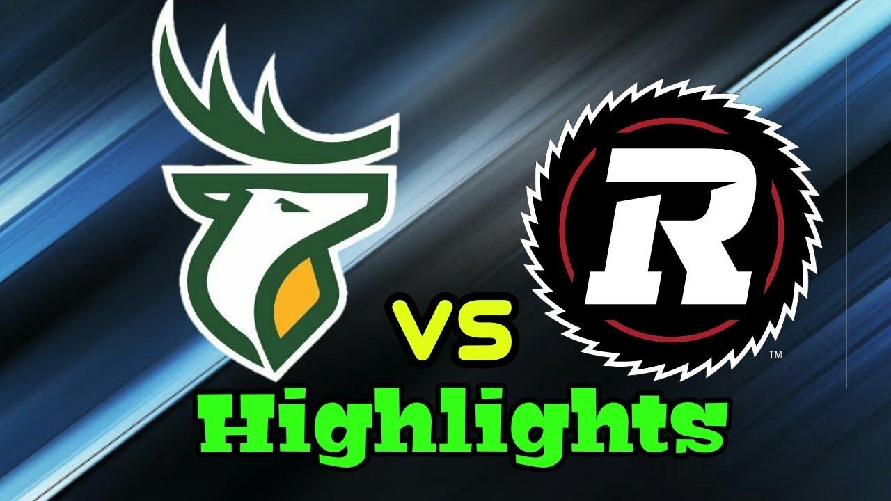 Edmonton Elks Vs Ottawa Redblacks CFL Highlights Week 1 8/7/21