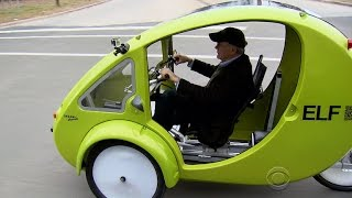 A look at ELF, the solar-powered bicycle-car hybrid
