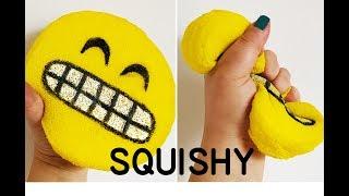 Meydan Okudum! Emoji Squishy Yapıyoruz! DIY EMOJİ SQUISHY! Squishy Nasıl Yapılır?
