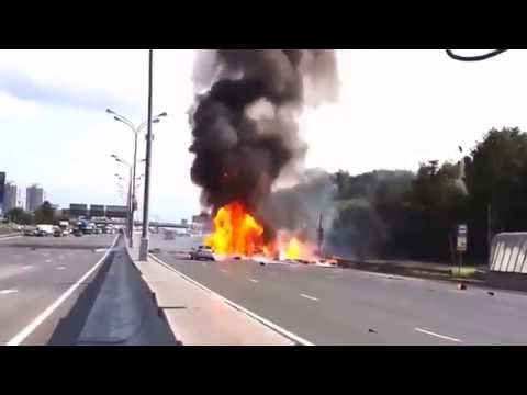 Russian Truck Gas Explosion - Highway to hell (new clip)