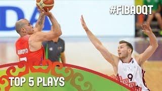 Top 5 Plays - Day 4 - 2016 FIBA Olympic Qualifying Tournament - Belgrade