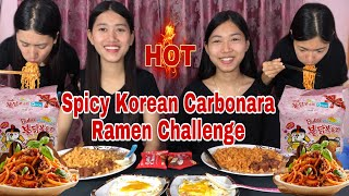 SPICY KOREAN FIRE NOODLES CHALLENGE🔥🔥   SAMYANG CARBONARA HOT CHICKEN RAMEN    Its me Aarati