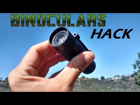 DIY Monocular Mod/Hack - Convert/Modify a cheap set of binoculars into 2 single MONOCULARS !