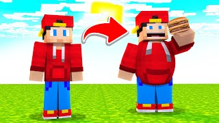 Minecraft but when you EAT you get FAT!!