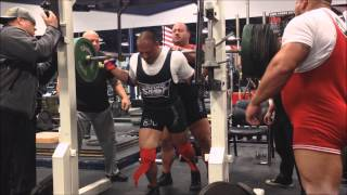 800lbs raw with lilliebridge wraps squat Ernie Lilliebridge JR 10 4 14