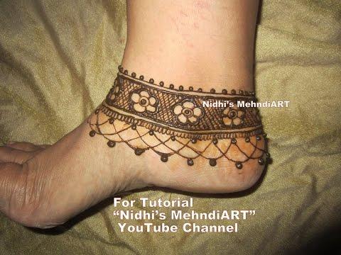 Mehndi Ankle Image : Arabic flowery anklet ornament jewellery inspired feet henna