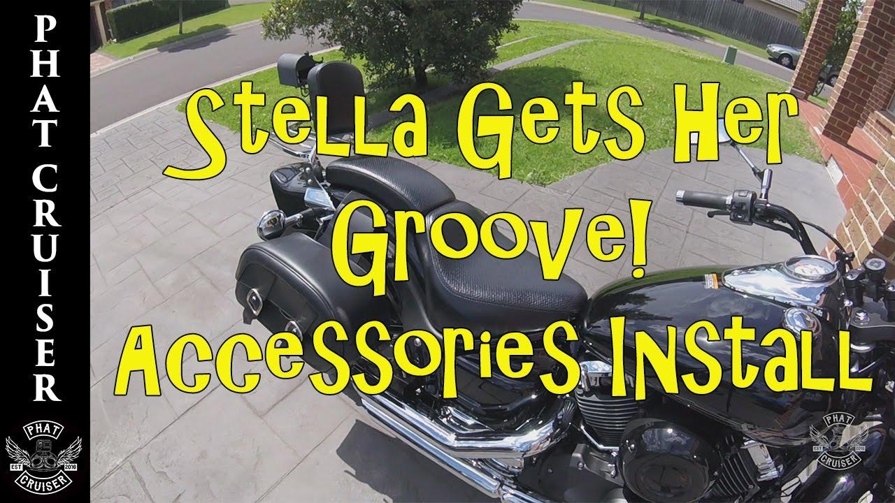 accessories install | yamaha v star 650 custom - motovlog