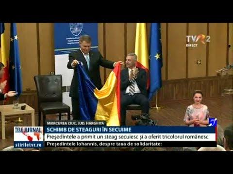 Klaus Iohannis, întâmpinat cu imnul secuiesc la Miercurea Ciuc. Reacţia preşedintelui