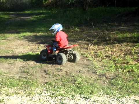 Crazy little ATV boy age 4 on 50cc!!! - YouTube