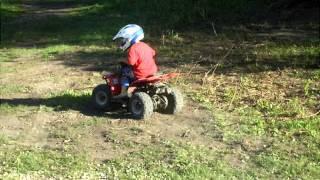 Crazy little ATV boy age 4 on 50cc!!!
