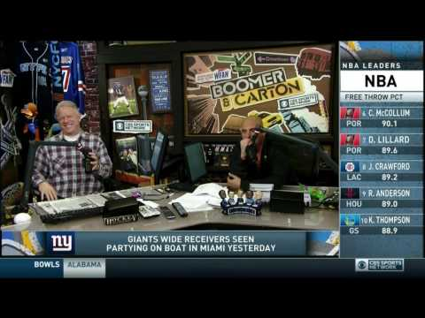 Boomer and Carton - Carton signing
