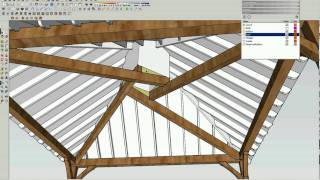 Reciprocal Roof Frame Using Sketchup - Video2