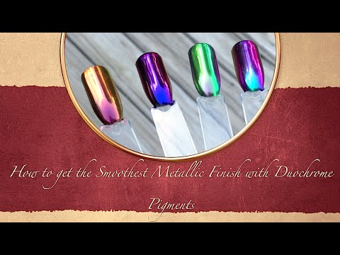 How To Get A Super Smooth Metallic Finish With Duo Chrome Pigments You