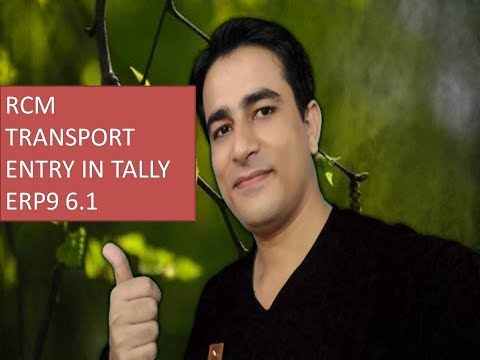 RCM on Transportation Charges in GST Tally ERP 9 Reverse Charge Transport entry in tally