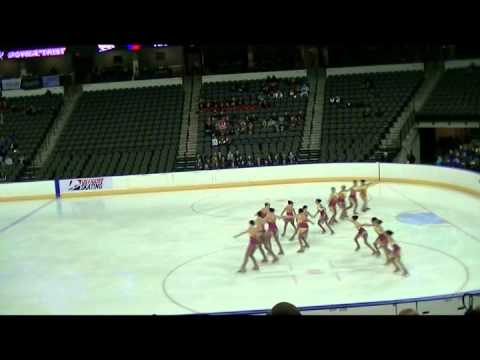 Tremors Open Juvenile Team at Midwestern Pacific Synchronized Skating Sectionals 2014