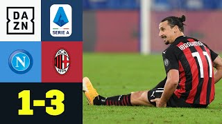 Zlatan geht in die Knie - Doppelpack und Verletzung: Neapel - AC Mailand 1:3 | Serie A | DAZN