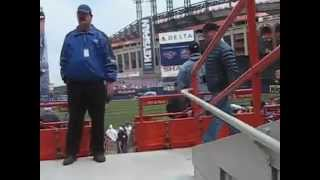 Our season ticket seats at Shea, the last year (Opening Day 2008)