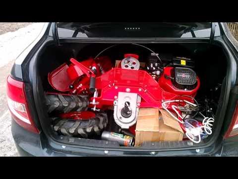 Перевозка Мотоблока Салют 100 в легковом автомобиле