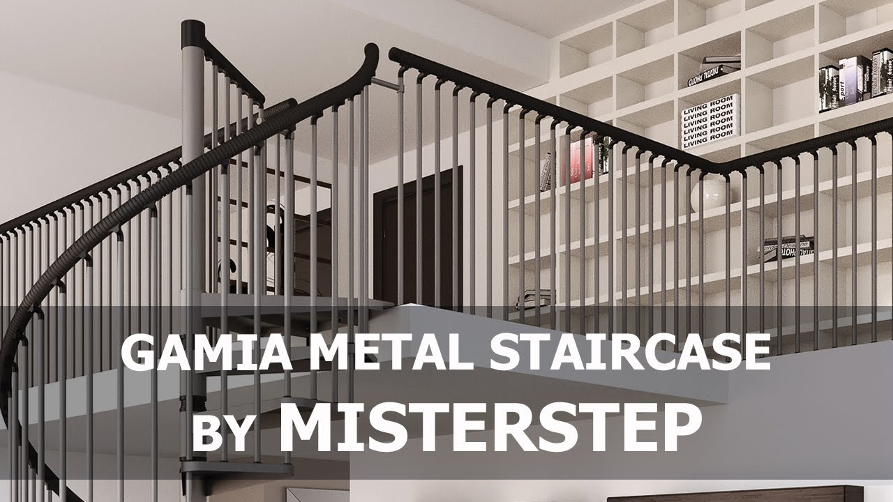 Misterstep Gamia Metal Spiral Staircase   Assembly Video