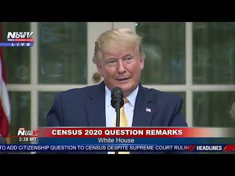 CENSUS 2020: President Trump EXECUTIVE ORDER Citizenship FULL STATEMENT