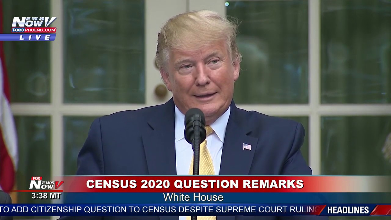 CENSUS 2020: President Trump EXECUTIVE ORDER Citizenship FULL STATEMENT