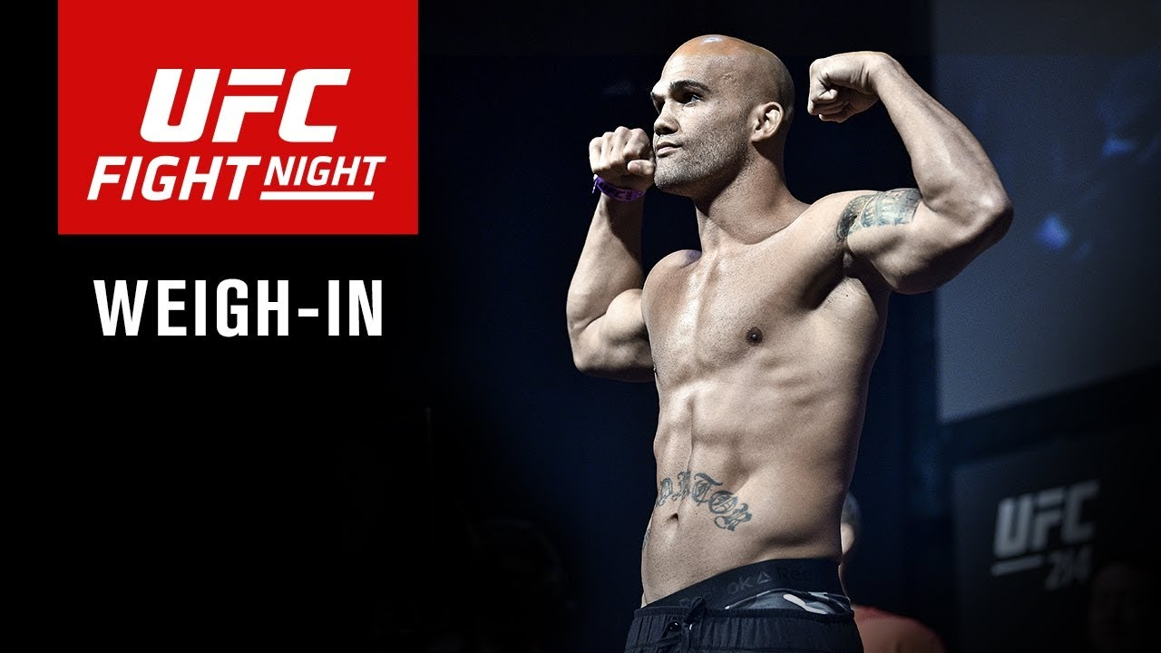 UFC Fight Night Winnipeg: Official Weigh-in Results and Live Video