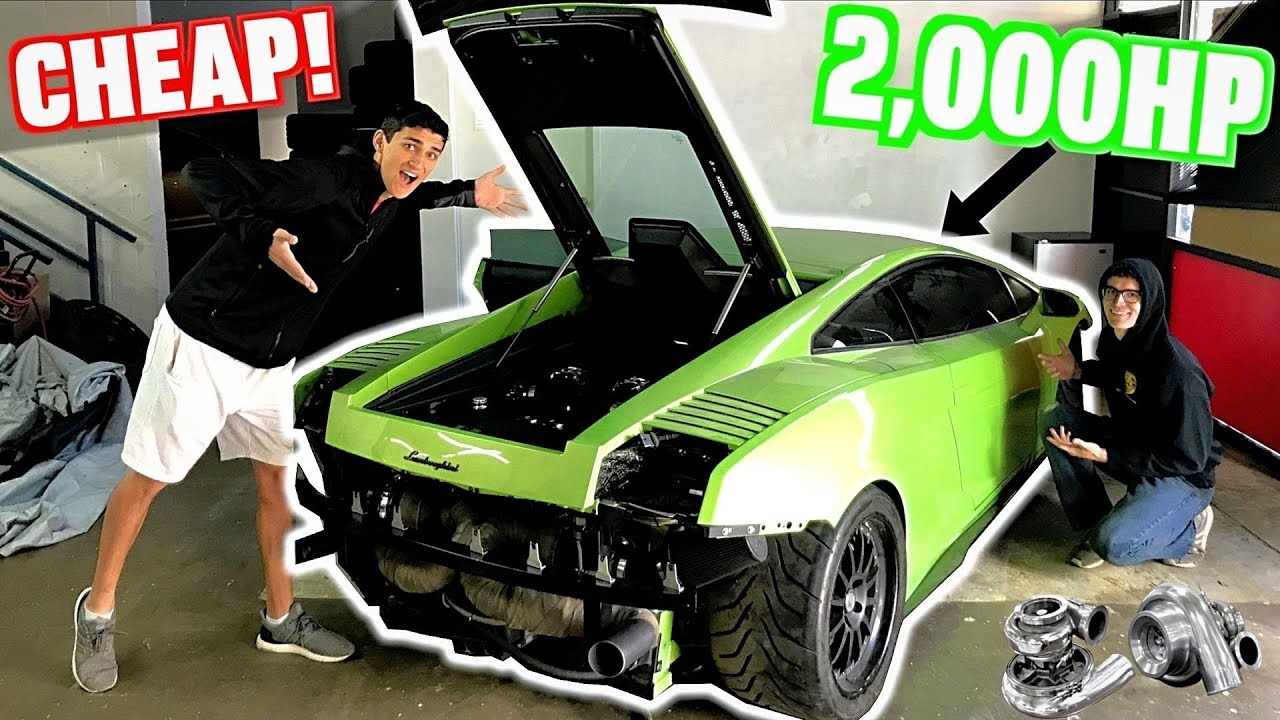 I Bought A Wrecked 2000 Hp Twin Turbo Ugr Lamborghini At Auction