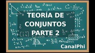Teoría de Conjuntos parte 2. Conjunto finito e infinito, conjuntos numéricos.